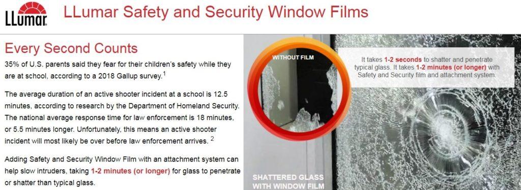 kaca film gedung security llumar